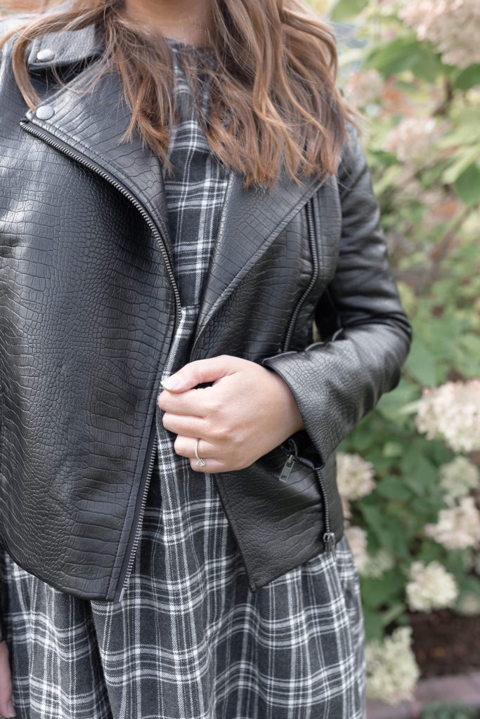 The Perfect Faux Leather Jacket for a Fall Capsule Wardrobe