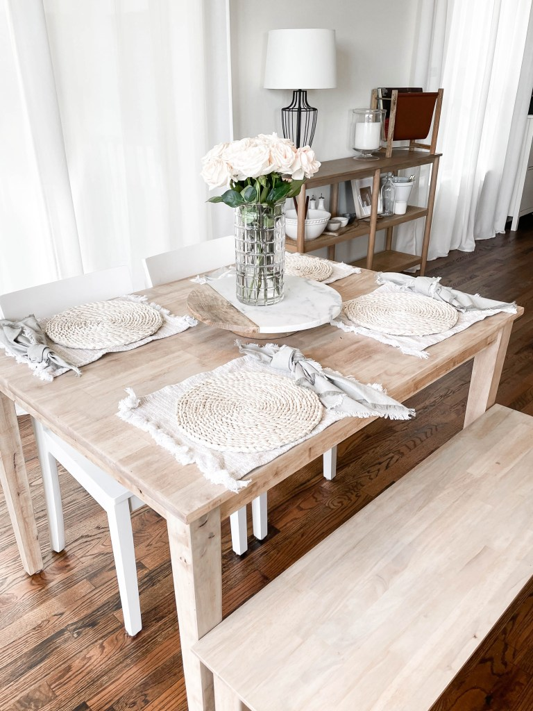Small Apartment Dining Room Table with Bench