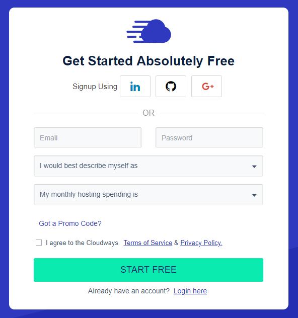 Inizia gratuitamente