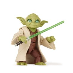 STAR WARS GALAXY OF ADVENTURES 5-INCH YODA Figure oop (2)