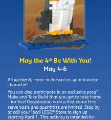 Star Wars LEGO Porg build