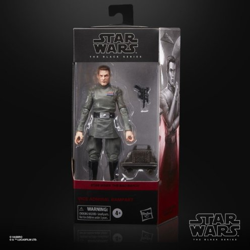 STAR WARS THE BLACK SERIES 6-INCH VICE ADMIRAL RAMPART Figure - in pck (2)