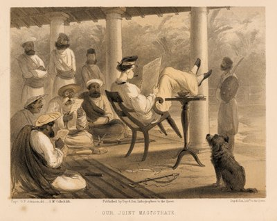 "Life of leisure, massacre, extortion, servants, luxury, it is not surprising that some are nostalgic for that exploitative past. ((Image from ""Curry & Rice"" on Forty Plates: or the Ingredients of Social Life at ""Our Station""; Published 1859; written by George Francklin Atkinson, a captain of the Bengal Engineers. Image source and courtesy - collectorsprints.com). Click for source image."