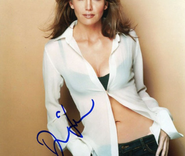 Diane Lane Autographed Signed Sexy Belly Black Bra Photo