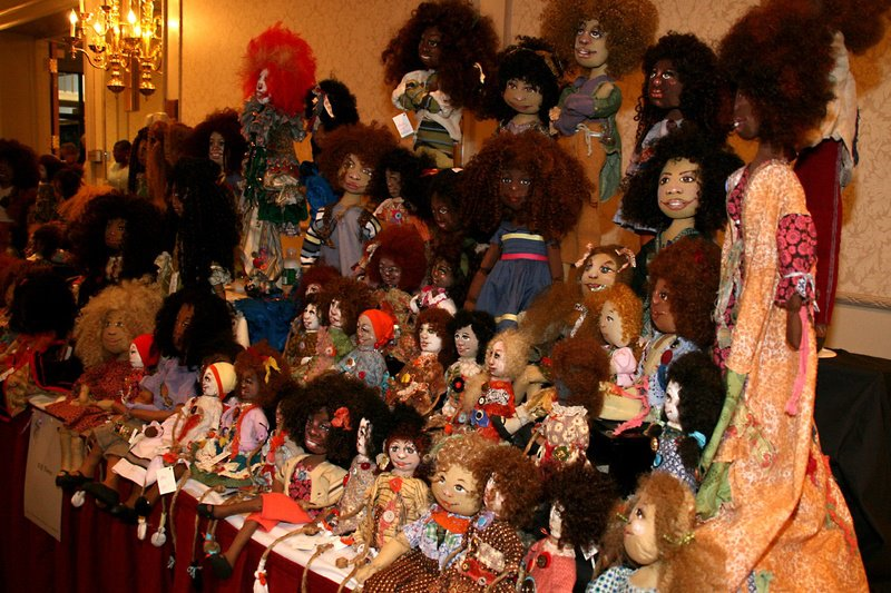 A display at the National Black Doll Museum. Via the museum's Facebook page.