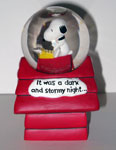 Snoopy Author 'It was a dark & stormy night' Snowglobe