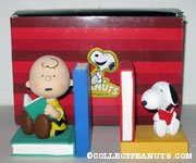 Snoopy & Charlie Brown with books Bookends