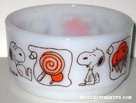 Snoopy thinking of Treats Bowl