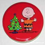 Charlie Brown and Christmas Tree Tin Canister