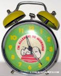 Snoopy on doghouse 'I'm Allergic to Morning' Alarm Clock