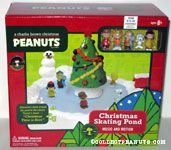 A Charlie Brown Christmas skating pond Animated Figurine set