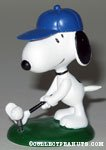 Snoopy playing golf spring figurine