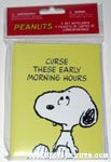 Snoopy looking up 'Curse these early morning hours' Notecards