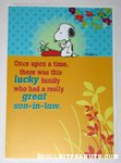 Snoopy at Typewriter Son-In-Law' Greeting Card
