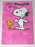 Snoopy & Woodstock 'Daughter' Greeting Card