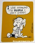 Linus 'I love mankind, it's people I can't stand' Postcard