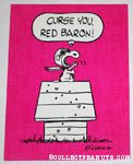 Flying Ace on doghouse 'Curse You, Red Baron' Postcard