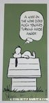 Snoopy 'A Kiss on the nose does much toward turning aside anger' Postcard
