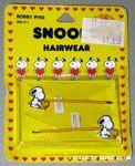 Snoopy & Woodstock shaking hands Barrette