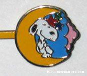 Snoopy on Moon Bobby Pin