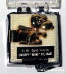 Snoopy Flying Ace Gold Tie Bar