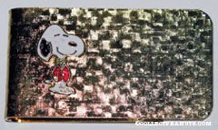 Snoopy wearing Red Sports Jacket Money Clip