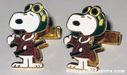 Snoopy Flying Ace Cufflinks