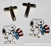 Uncle Sam Snoopy Cufflinks