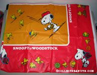 Snoopy & Woodstock playing Sports Tablecloth