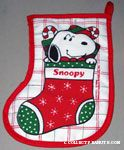 Snoopy in Christmas Stocking Pot Holder