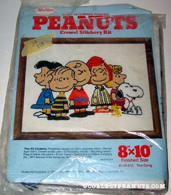Peanuts Gang Crewel Stitchery Kit