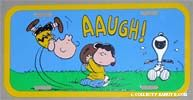 Laughing Snoopy Car License Plate