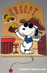 Cowboy Snoopy & Woodstock drinking root beer in bar Letter Box