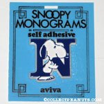 Snoopy with letter N Plastic Monogram