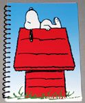 Snoopy on Doghouse Spiral Notebook