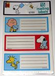 Charlie Brown, Snoopy & Woodstock mailing labels