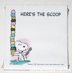 Snoopy with ice cream cone 'Here's the Scoop' Sticky Notes