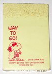 Joe Cool 'Way to Go' Sticky Notes