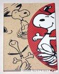 Snoopy dancing notebook