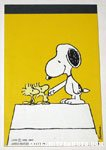 Snoopy shaking hands with Woodstock notebook