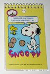 Snoopy and Chocolate Chip Cookies Spiral Notepad