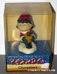 Lucy holding gift package in winter outdoor clothing Ornament