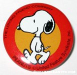 Peanuts & Snoopy The Loving Friend Company Pinback Buttons