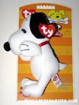Snoopy Bow Wow Beanies Plush Squeaky Toy