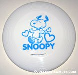 Snoopy dancing with hearts Plastic Flying Disc