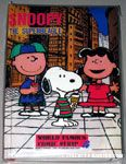 Charlie Brown, Lucy & Snoopy eating treats in city Notebook