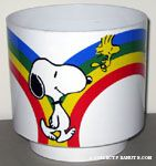 Snoopy & Woodstock walking along rainbow Planter