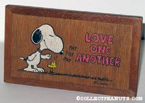 Snoopy and Woodstock 'Love one another' wooden plaque