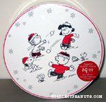 Snoopy, Linus, Lucy & Charlie Brown throwing snowballs Ceramic Dessert 4 Plate Set