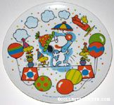 Clown Snoopy with Woodstocks and Balloons Melamine Plate